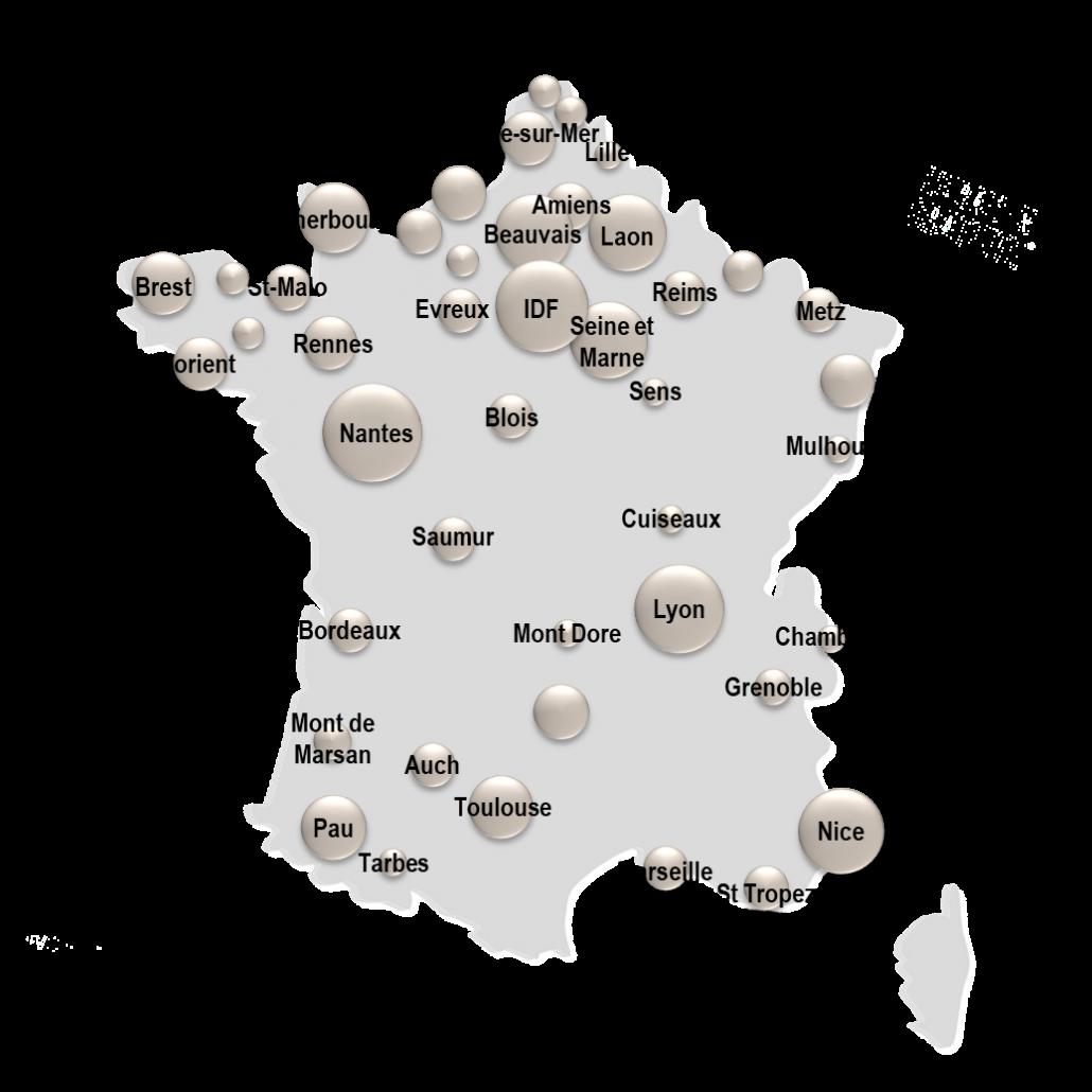 Carte de France groupe CF
